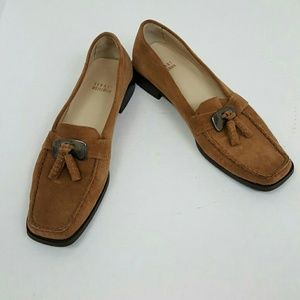 Stuart Weitzman brown suede leather shoes size 8N